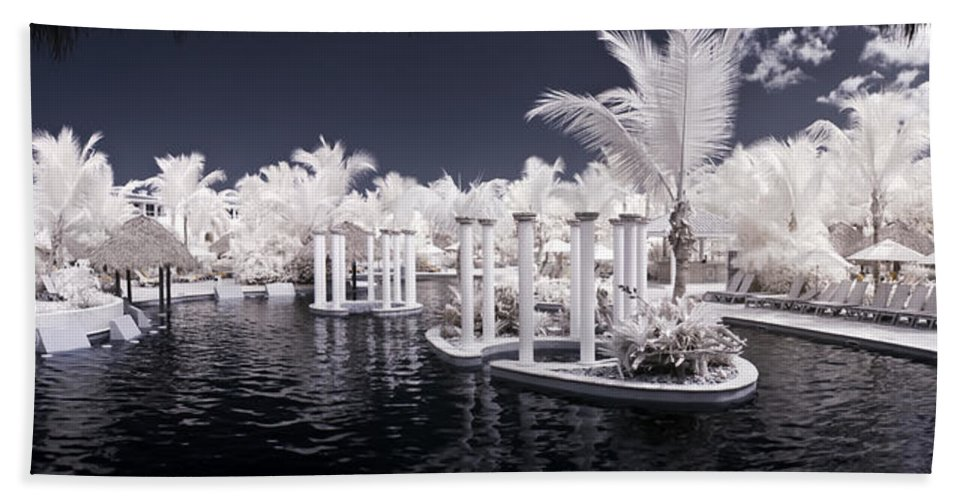 3scape Photos Bath Sheet featuring the photograph Infrared Pool by Adam Romanowicz