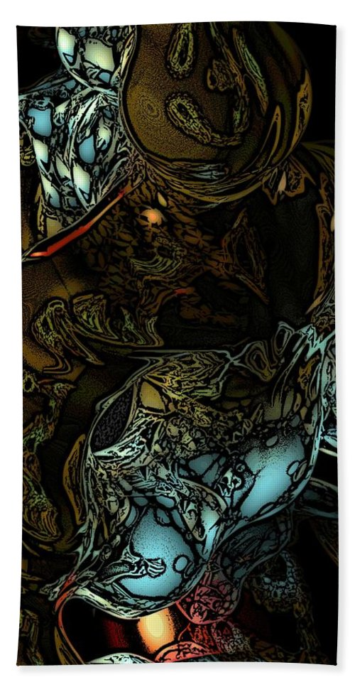 Abstract Hand Towel featuring the digital art Inner Being by David Lane