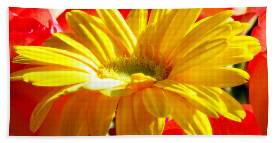 Floral Hand Towel featuring the photograph Inner Glow by Karen Wiles