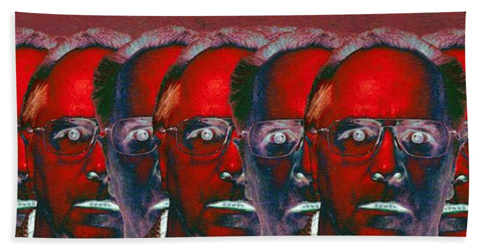 Portrait Hand Towel featuring the photograph Inner Light by Ron Bissett