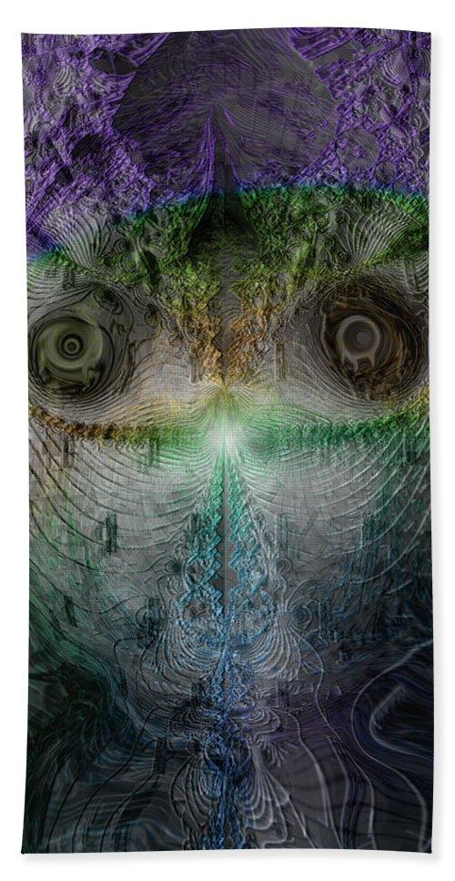 Dark Art Hand Towel featuring the digital art Inner Silence by Linda Sannuti