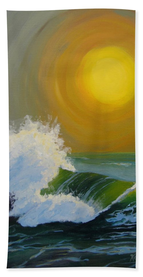 Sea Hand Towel featuring the painting Inner Tide by Karen Ilari