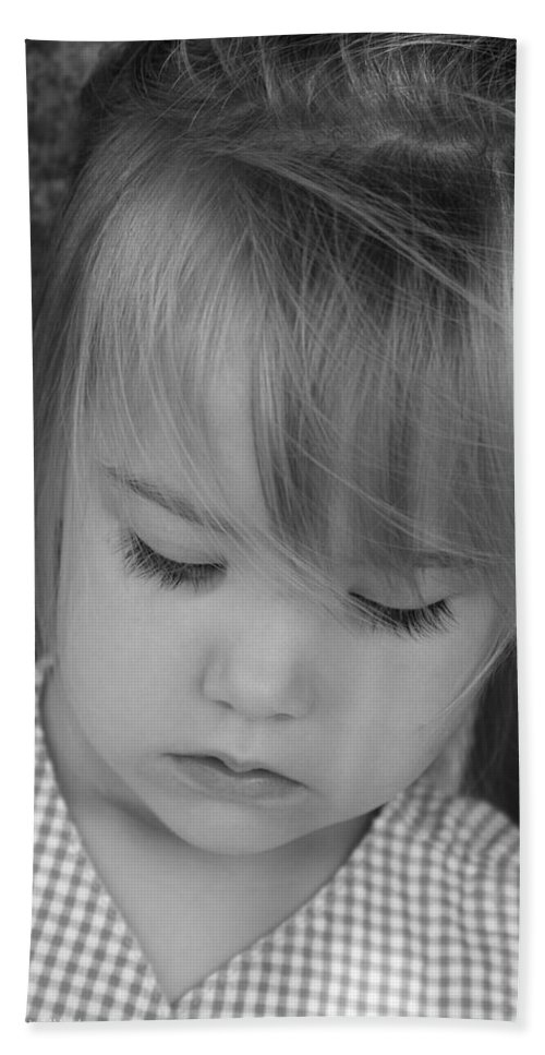 Angelic Bath Sheet featuring the photograph Innocence by Margie Wildblood