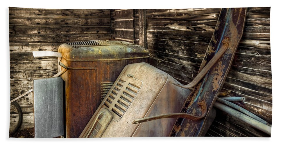 Barn Hand Towel featuring the photograph Inside Barn by Wayne Sherriff