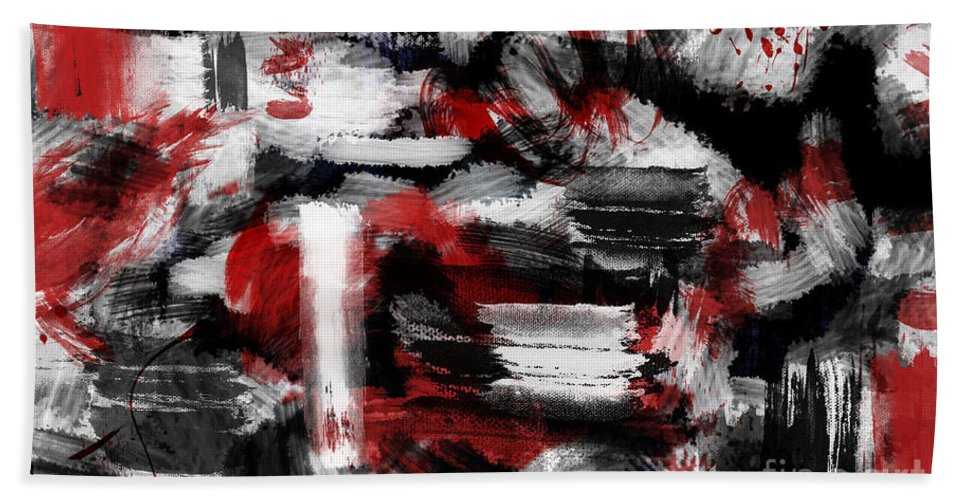 Abstract Canvas Prints Bath Sheet featuring the digital art Insomnia by Aimelle