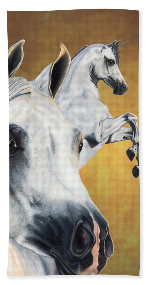 Horse Hand Towel featuring the drawing Inspiration by Kristen Wesch