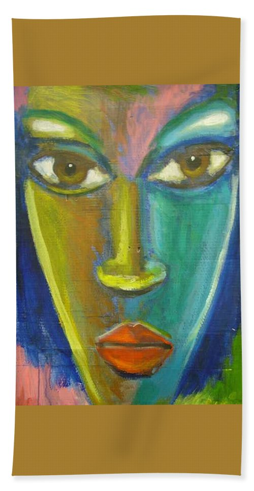 Painting Hand Towel featuring the painting Intensity by Jan Gilmore