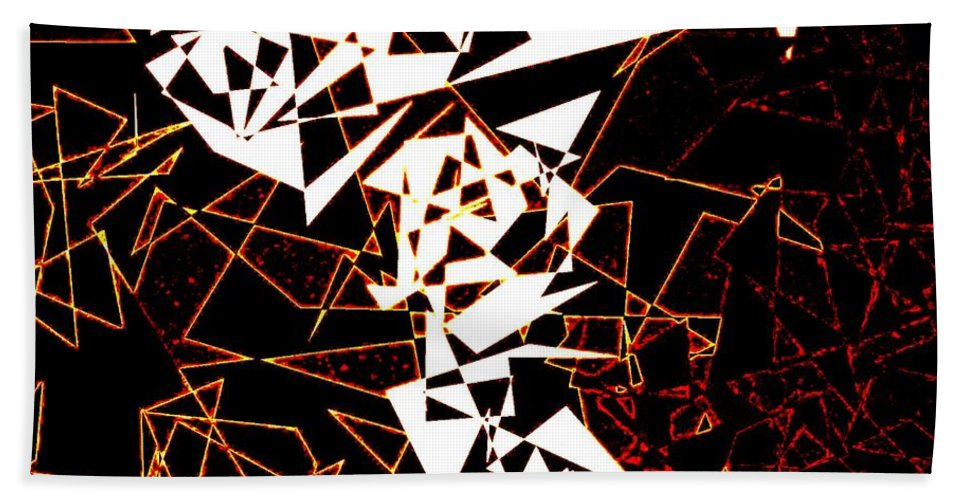Abstract Hand Towel featuring the digital art Interaction by Will Borden