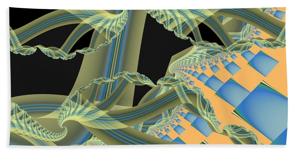 Fractal Image Bath Towel featuring the digital art Interface by Ron Bissett