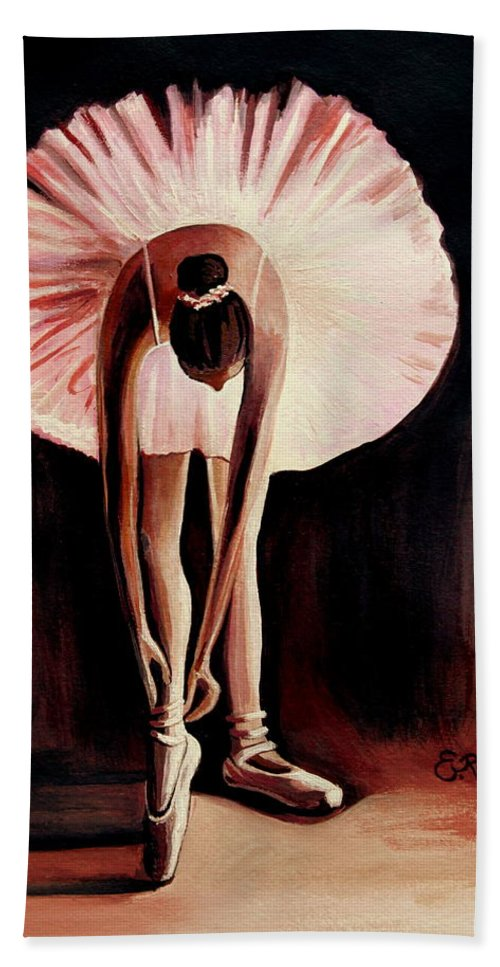 Ballerina Bath Sheet featuring the painting Interlude by Elizabeth Robinette Tyndall