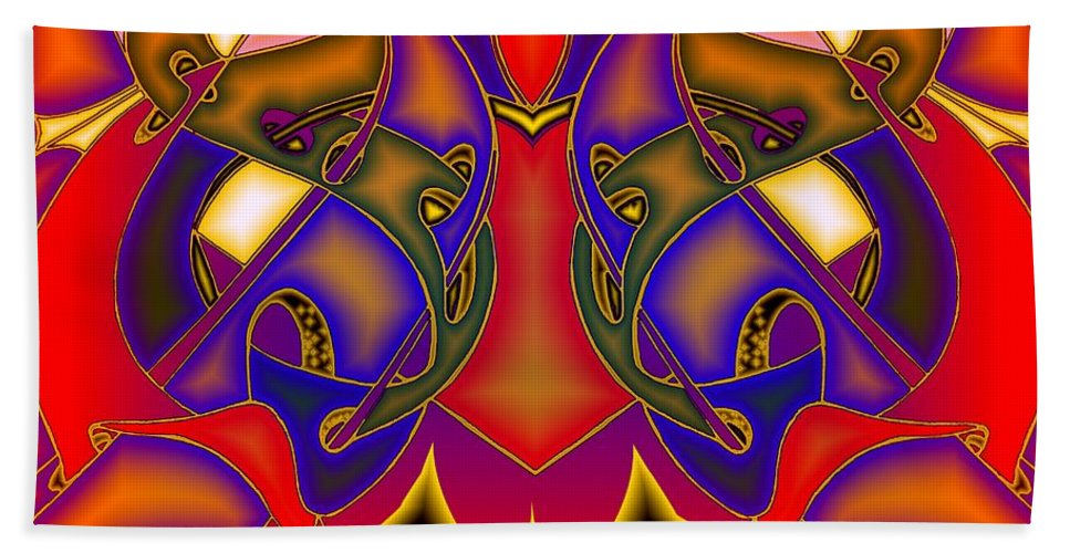 Life Bath Sheet featuring the digital art Intertwined Lifestreets by Helmut Rottler