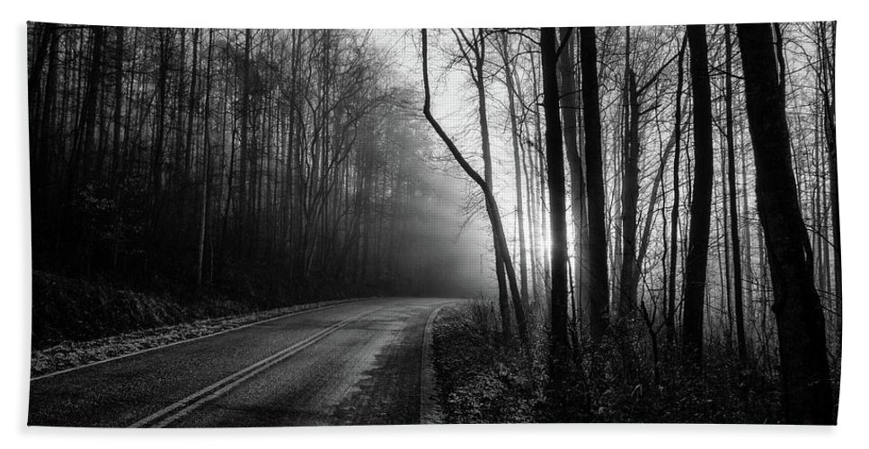 Bw Photography Bath Sheet featuring the photograph Into The Light by Chilehead Photography