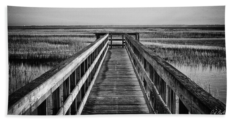 Beaufort County Bath Sheet featuring the photograph Into The Marsh by Phill Doherty