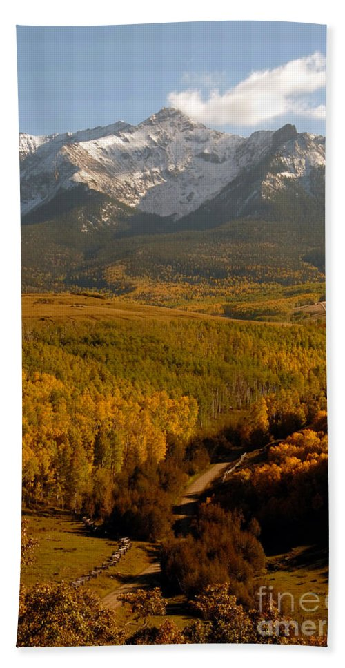 San Juan Mountains Bath Sheet featuring the photograph Into The Mountains by David Lee Thompson