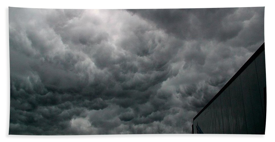 Storm Bath Sheet featuring the photograph Into The Storm by D'Arcy Evans