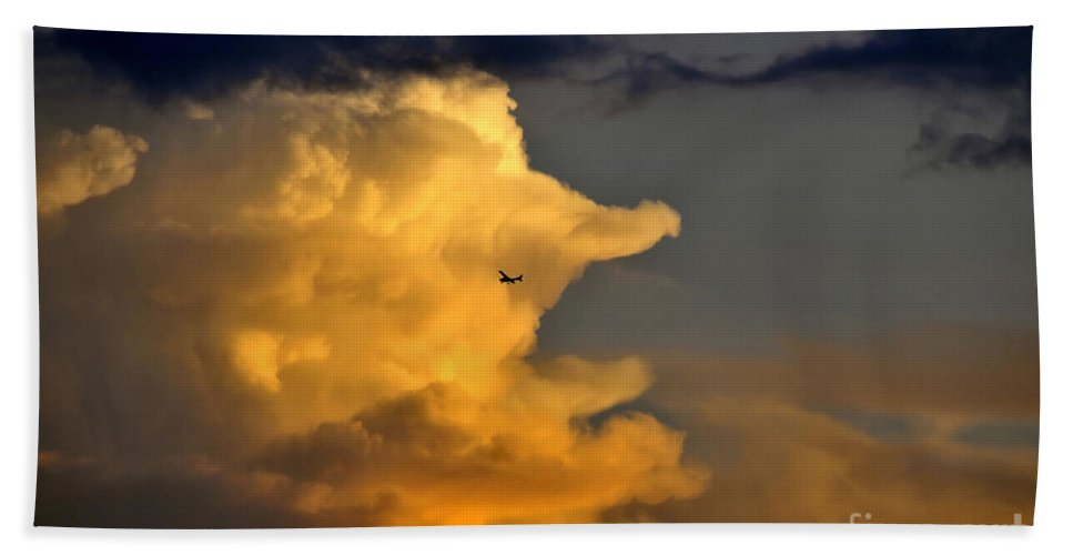 Flying Bath Sheet featuring the photograph Into The Storm by David Lee Thompson
