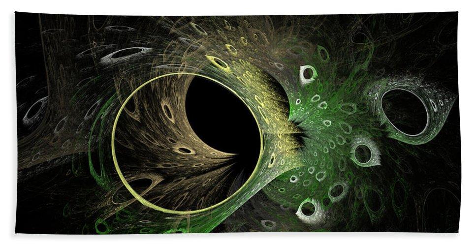 Fractal Bath Towel featuring the digital art Into The Vortex by Deborah Benoit
