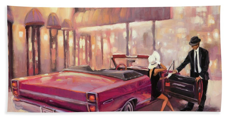 Romance Hand Towel featuring the painting Into You by Steve Henderson