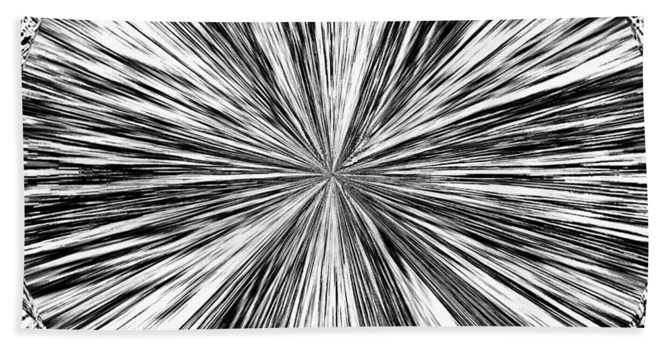 Black & White Bath Towel featuring the digital art Introspective by Will Borden