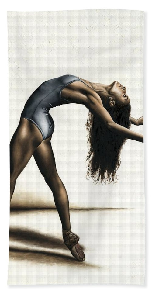 Dance Bath Towel featuring the painting Invitation to Dance by Richard Young