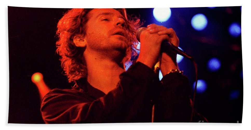 Inxs Bath Sheet featuring the photograph Inxs-94-michael-1274 by Timothy Bischoff