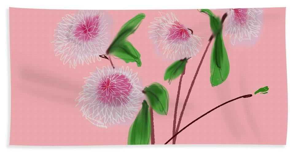 Floral Hand Towel featuring the digital art Dear Dahlia's by Bonny Butler