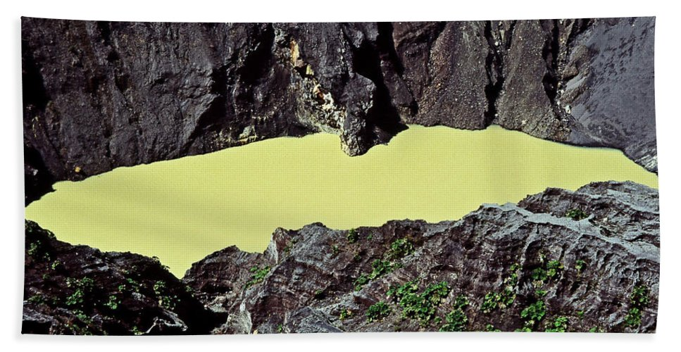 Central America Bath Sheet featuring the photograph Irazu Volcano - Costa Rica by Juergen Weiss