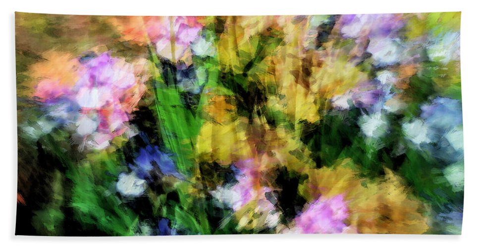 Iris Hand Towel featuring the photograph Iris Fantasy by Don Zawadiwsky