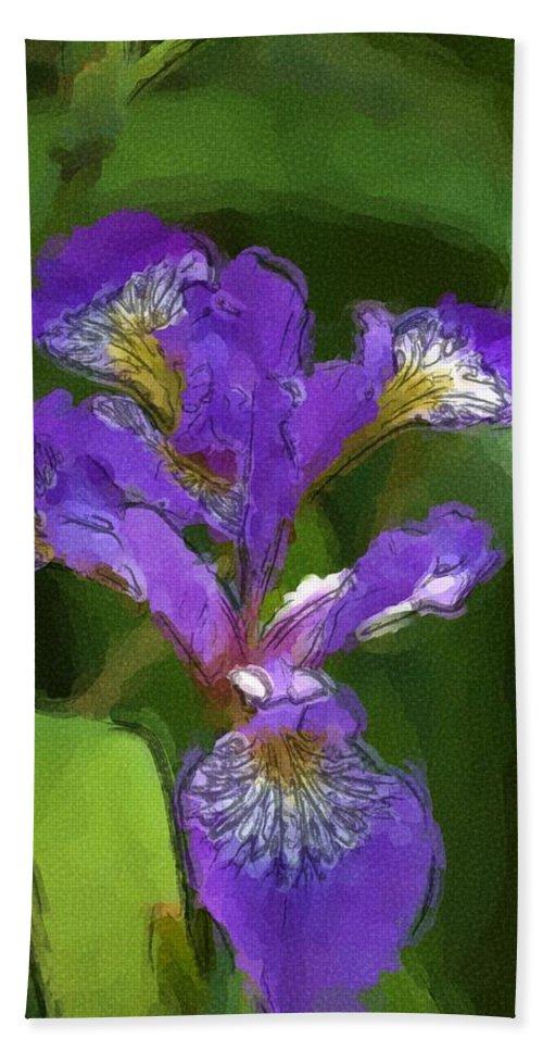 Digital Photograph Bath Sheet featuring the photograph Iris II by David Lane