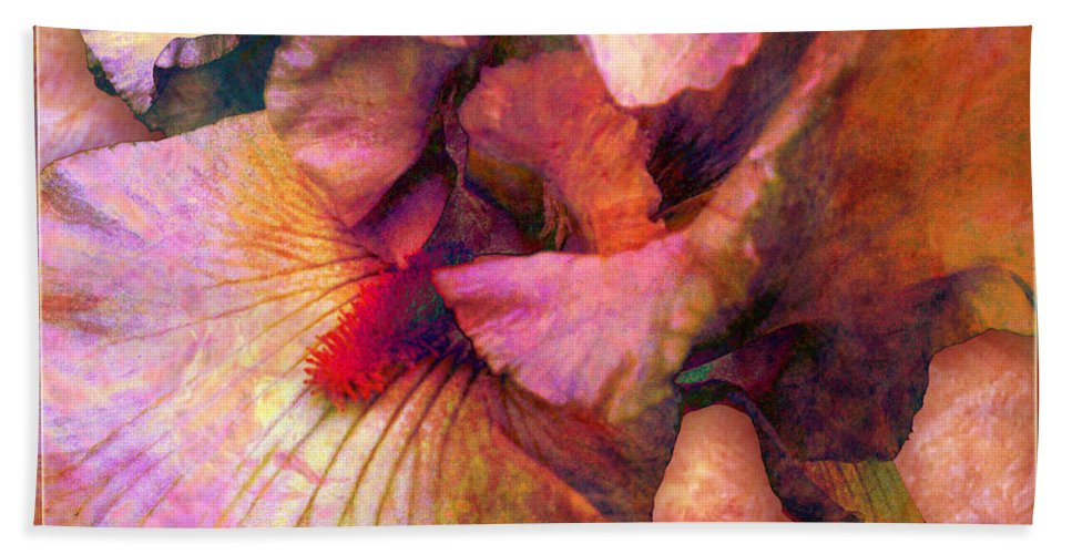 Iris Hand Towel featuring the digital art Iris IIi by Barbara Berney