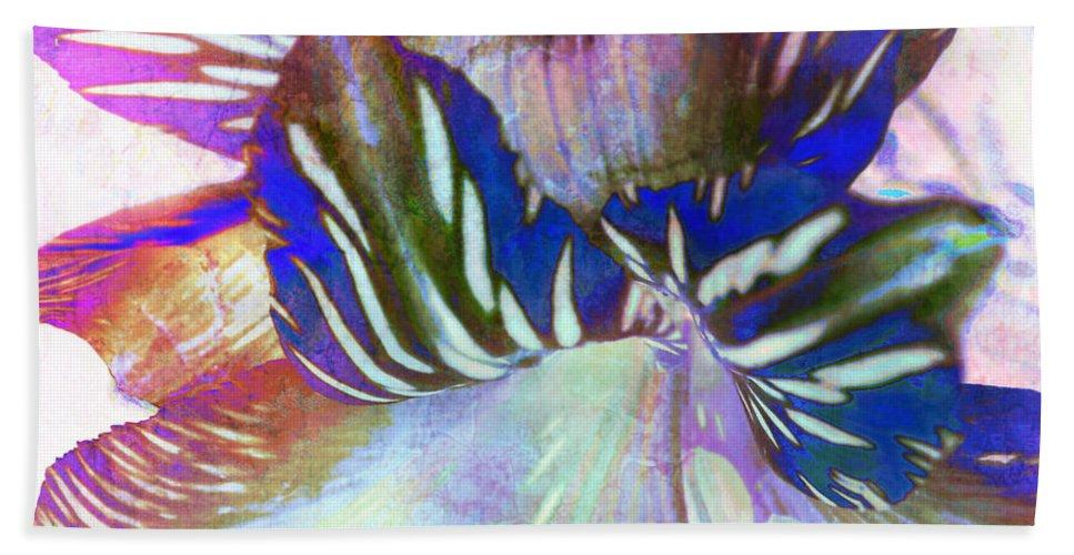 Iris Hand Towel featuring the digital art Iris Iv by Barbara Berney