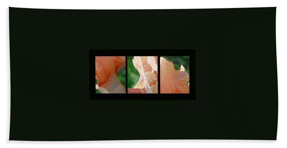 Abstract Bath Towel featuring the photograph Iris by Steve Karol