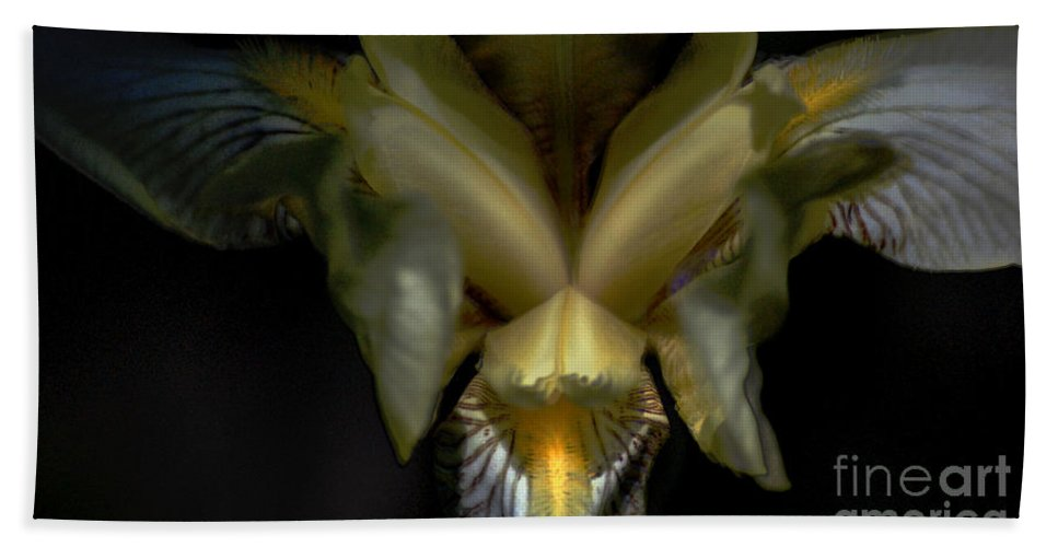 Digital Photo Bath Sheet featuring the photograph Iris Two by David Lane