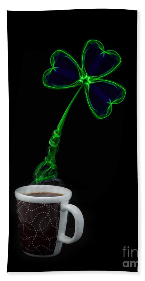 Abstract Hand Towel featuring the photograph Irish Coffee by Roger Monahan