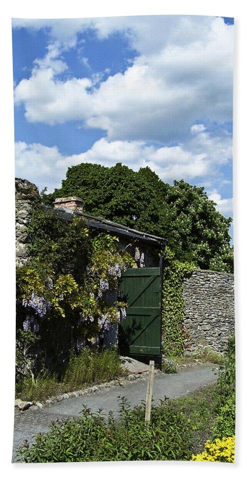 Irish Bath Towel featuring the photograph Irish Garden County Clare by Teresa Mucha