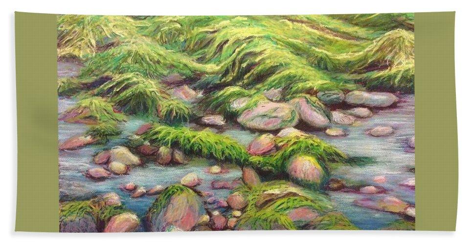 Ireland Bath Sheet featuring the painting Irish Seas by Art Nomad Sandra Hansen