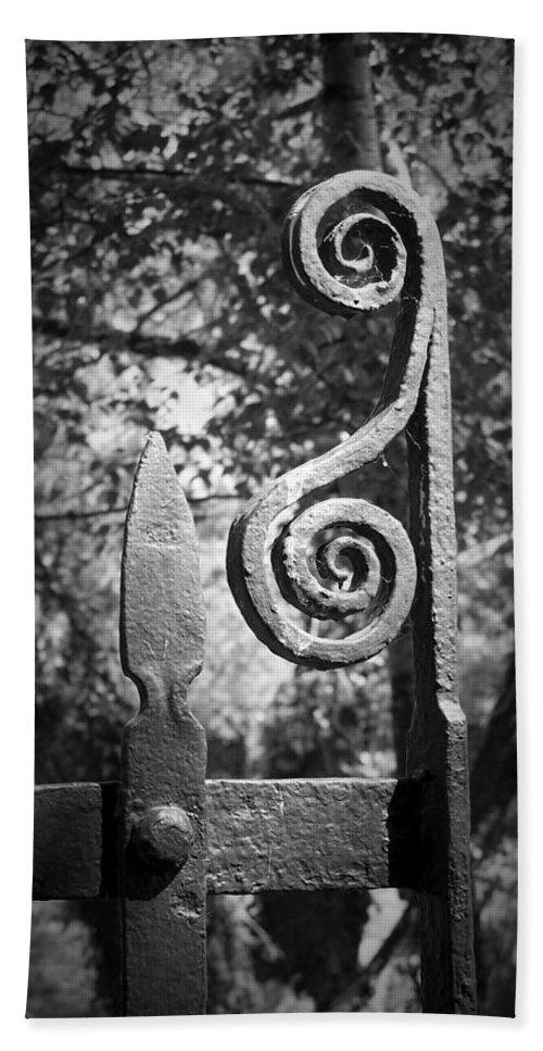 Irish Hand Towel featuring the photograph Iron Gate Detail County Clare Ireland by Teresa Mucha