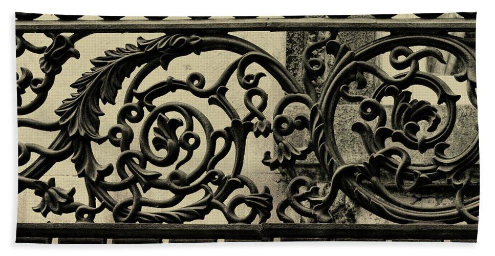 Savannah Bath Sheet featuring the photograph Iron Work by JAMART Photography
