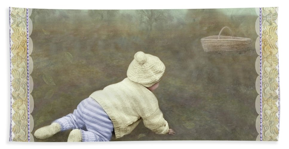 Bath Towel featuring the photograph Is Bunny In The Basket? by Adele Aron Greenspun