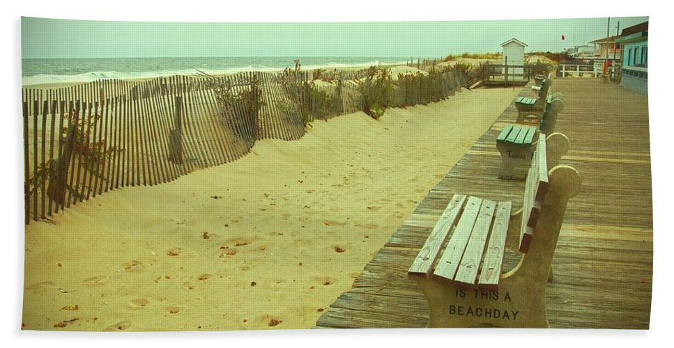 Jersey Shore Bath Sheet featuring the photograph Is This A Beach Day - Jersey Shore by Angie Tirado