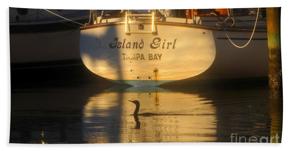Sailing Boat Hand Towel featuring the photograph Island Girl by David Lee Thompson