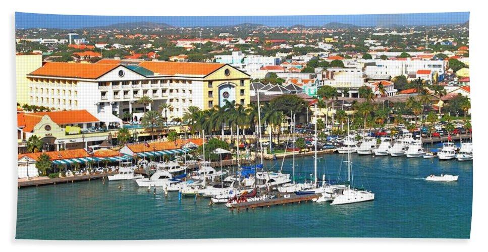 Aruba Hand Towel featuring the photograph Island Harbor by Gary Wonning
