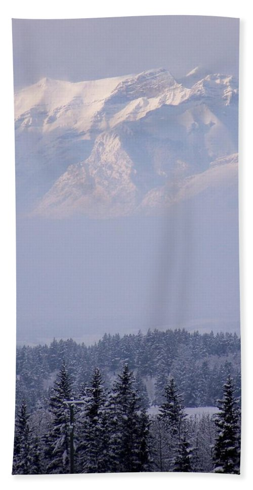 Layers Bath Sheet featuring the photograph Island In The Sky by Greg Hammond
