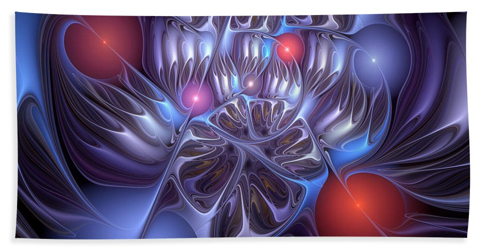 Abstract Bath Sheet featuring the digital art Isolation Of Dogmatic Acceptance by Casey Kotas