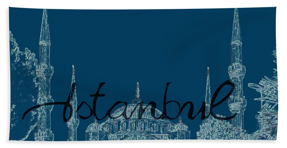 Istanbul Bath Sheet featuring the photograph Istanbul Blue Mosque by Emily Kay