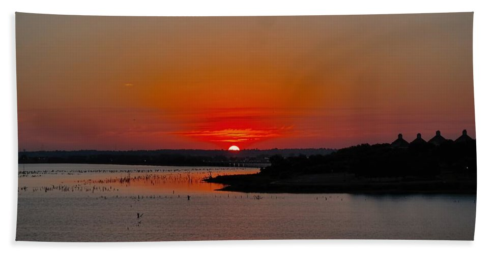 Sunrise Landscapes Bath Sheet featuring the photograph It Is Our Sunrise by Diana Mary Sharpton