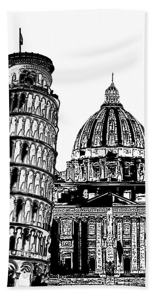 Italia Grafica Hand Towel featuring the mixed media Italia Grafica by Pharris Art