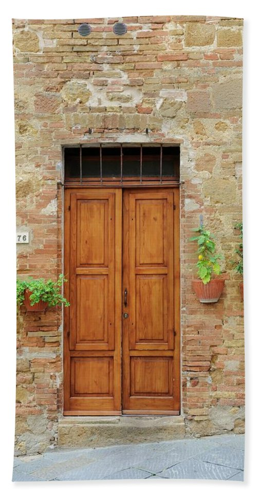 Europe Hand Towel featuring the photograph Italy - Door Six by Jim Benest