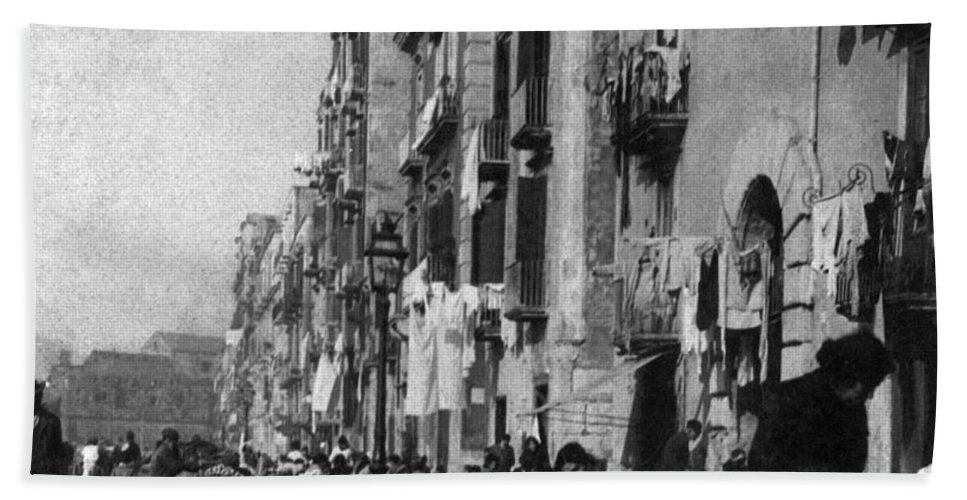 1904 Hand Towel featuring the photograph Italy: Naples, C1904 by Granger