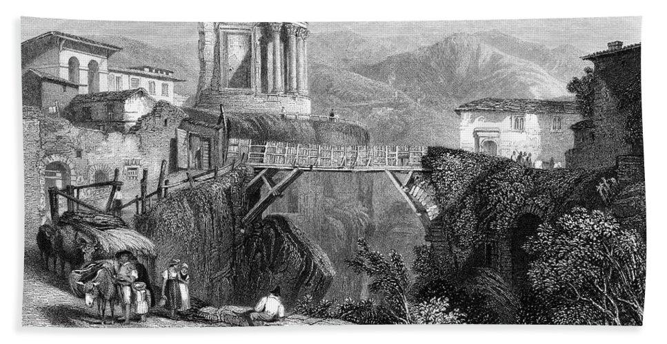 1832 Bath Sheet featuring the photograph Italy: Tivoli, 1832 by Granger